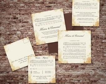 Invitations wedding music