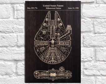 Fathers Day gift Star Wars gift Wood wall art gift for Men gift for Boyfriend gift for Brother gift for Husband gift Panel effect Wood art