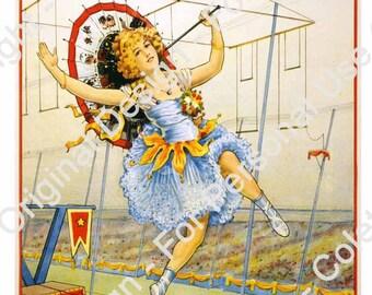 Large Vintage Circus Poster, Showman, Digital Circus Poster,  Carnival Banner, Party Poster, Circus decor, school carnival, printable circus