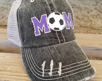 Soccer Mom Hat, Soccer Mom trucker hat, Bling Soccer Mom Hat, Personalized Soccer Hat, Custom Soccer Hat