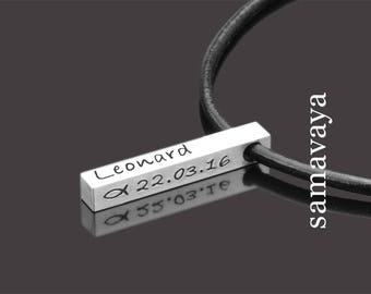 Name chain FBM ICHTHYS 925 Silver necklace to the confirmation communion