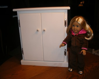 18 inch Doll Armoire/Wardrobe for American Girl Doll