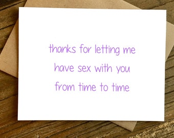 Funny Anniversary Card - Anniversary Card - Love Card - Card for Wife - Card for Girlfriend - Sex with You.