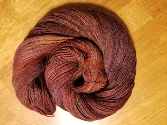 Queen Butterfly  Indie Glaze Dyed 100% Peruvian Highland Wool/SW - Fingering weight yarn 100g,  402yds