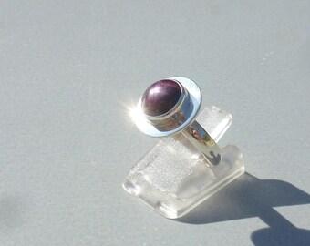 Ruby ring starry plum AUBERGINE size 53 silver dangle 925 stone Fine stone gemstone gift ring-stone and 925 minimalist