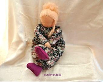 Waldorf doll, ALL HANDMADE-15inch \ 37.5cm- no machine involved  בובת וולדורף