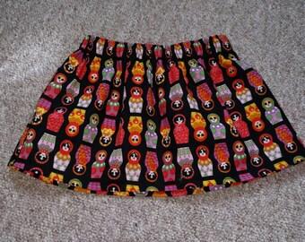 Pretty girls Russian doll print skirt 12-18 months