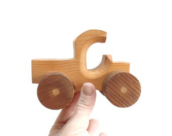 Wooden Toy Tractor, Handmade Toy Car
