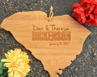 South Carolina Cutting Board, State,Cutting Board,Personalized Cutting Board,Shower Gift,Wedding Gift,Anniversary Gifts,Housewarming Gift