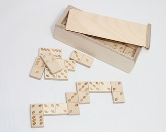 American Football Theme Wooden Domino Game (custom themes available)