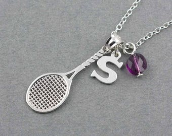 Tennis Racket Charm Necklace