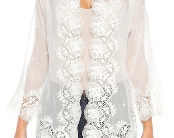 White Lace Top Size: 4