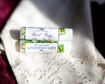 Earl Grey Lip Balm - All Natural - Hermanas Apothecary - Hand Poured