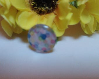 Speckled glass cabochon