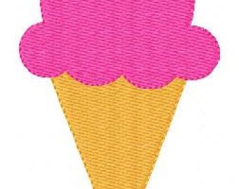 Embroidery Design, Ice Cream Cone, Summer Embroidery Design, Instant Download,  // Joyful Stitches