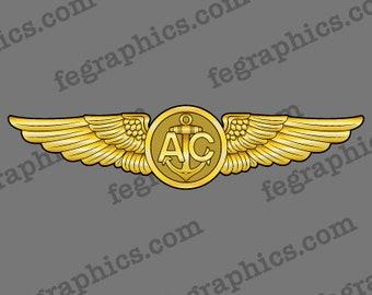 Naval Aircrew Wings, Navy Aircrew Wings, Enlisted Aircrew Wings, Naval Aircrew Badge, Navy Aircrew Wings, Coast Guard, Marine Corps