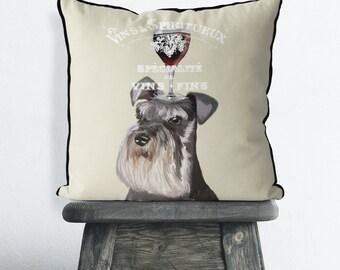 Schnauzer gifts miniature schnauzer pillow Schnauzer cushion dog pillows gift for dog lover dog decor dog throw pillow dog lover gift