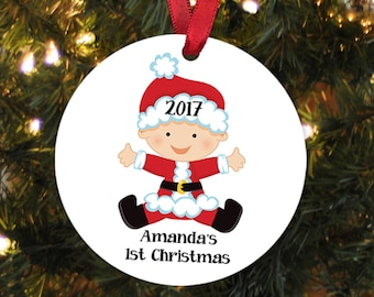 Baby's First Christmas Ornament Baby Shower Personalized Christmas Ornament - New Baby Gift Baby Christmas Gift