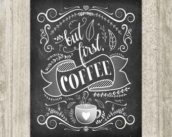All I Need Is Coffee And Jesus Chalkboard Sign Coffee Art