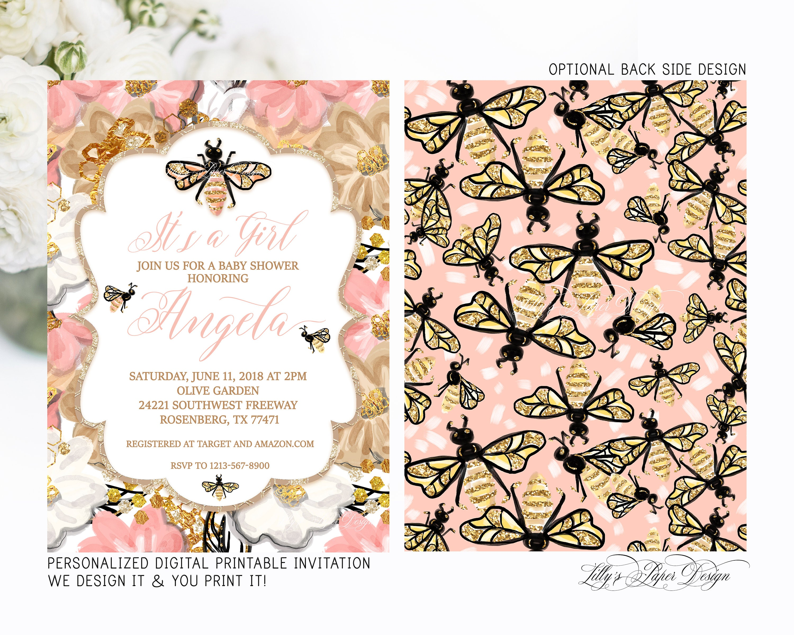 Bee Baby Shower Invitation Bumble Bee Invitation It\'s a