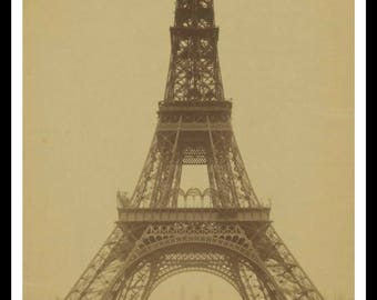 Vintage Historic Reproduction Photo French Eiffel Tower Unframed