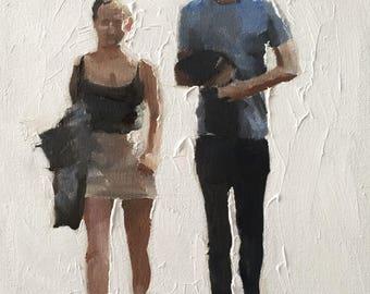 Amour Couple peinture Art Love impression - Art Print - à partir de peinture originale par J Coates