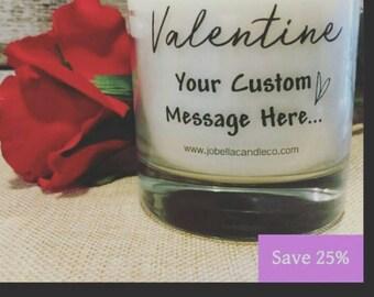 Custom Message Valentine candle