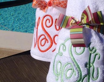 Monogrammed Over-Sized Towel