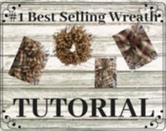 How to Make a Wreath / Wreath Tutorial / Farmhouse Wreath DIY / Wreath Step by Step / Tutorial Wreath / DIY Wreath Video / Burlap Tutorial