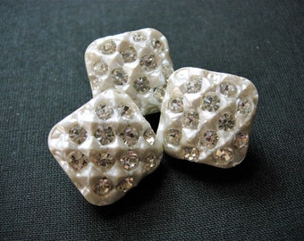 Beautiful Vintage Paste Rhinestone Buttons
