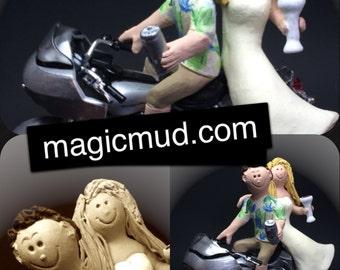 Harley Davidson Groom Wedding Cake Topper - Custom Made Motorcycle Wedding Cake Topper - Wedding Cake Topper for Harley Bikers