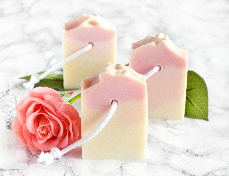 Rose Soap Bar Pink Bridal Shower Favors For Guests Best