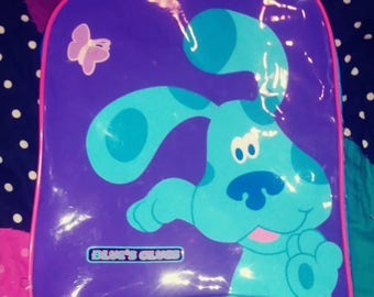 sustainable fashion Blues Clues kids BackPack and a free blues clues plush backpack / bag clip