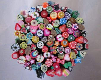 wholesale lot of 200 canes fimo patterns mixed #B decide