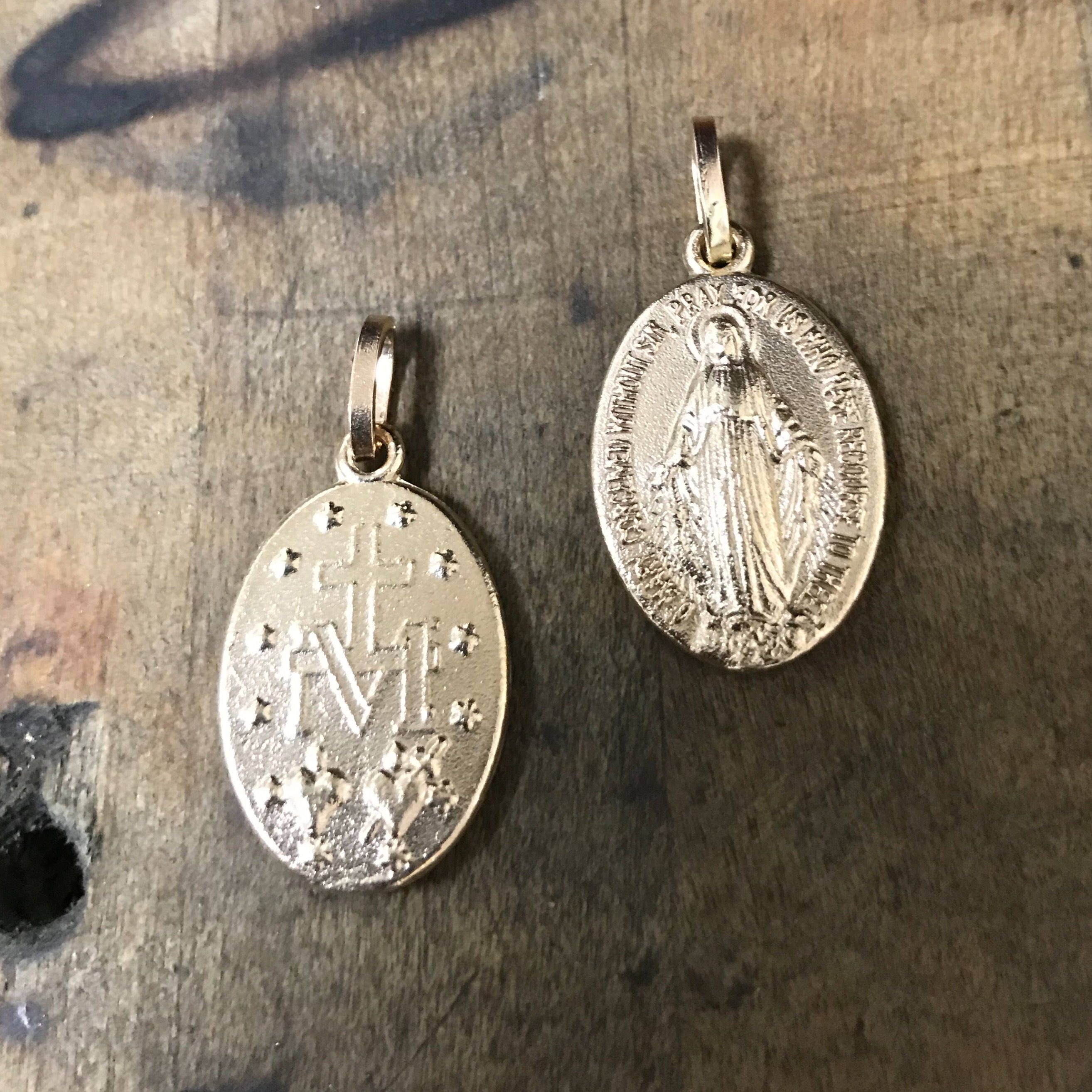 medallion large chain st enameled with extra medal saint sterling sc christopher product