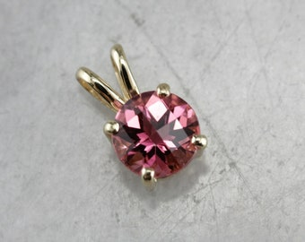 Pink Tourmaline Pendant, Solitaire Pendant, Pink Stone Ring, Birthday Gift N3Z7XKKD-D