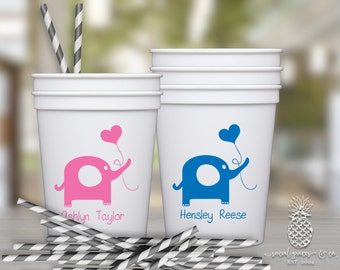 Baby Shower Elephant Party Favor Cups | Party Cups | social graces and Co.
