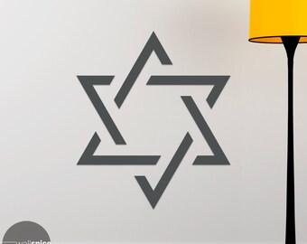 Star Of David Symbol Vinyl Wall Decal Sticker Religion Jewish Judaism