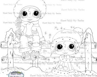 INSTANT DOWNLOAD Digi Stamps Big Eye Big Head Dolls Digi Bestie IMG100013 A By Sherri Baldy