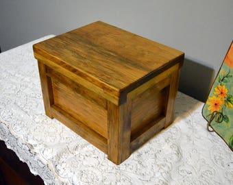 Handcrafted Rustic Cedar Lined Treasure Box, Keepsake Box, Wood Jewelry Box