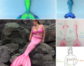 Down Payment design fee for custom Mermaid Tail orders. Fee is applied towards the total cost of tail.