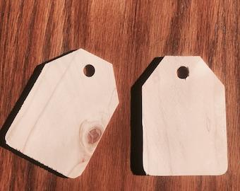 Wood tags Qty 10