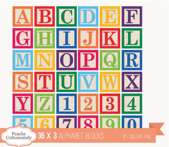 buy 2 get 1 free 36 digital alphabet blocks clipart baby block rh etsystudio com alphabet clip art free stencils alphabet clipart images