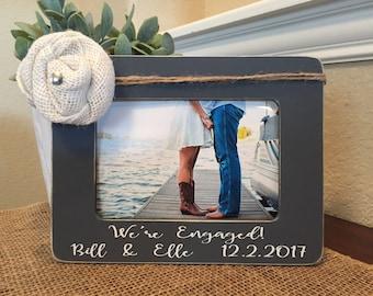 Engagement gift personalized engagement frame wedding gift she said yes frame