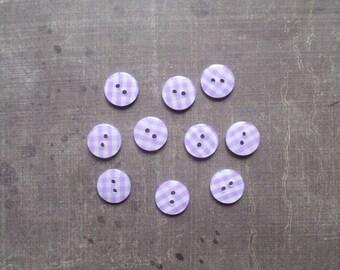 Plaid gingham Purple 1.3 cm 40 buttons