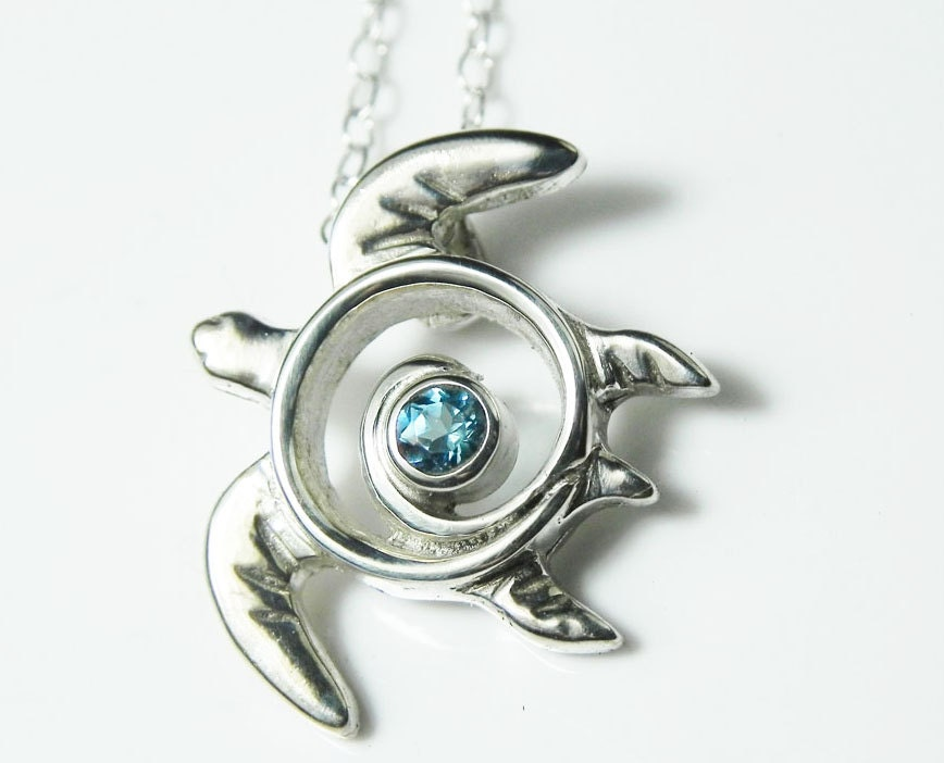Blue topaz sea turtle necklace turtle necklace blue topaz description our sea turtle necklace aloadofball Images