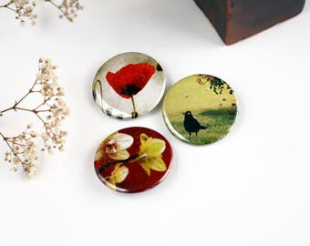 #1 three badges Nature Photography set - size 4.5 cm