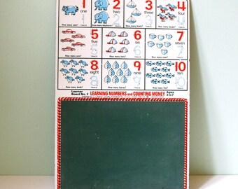 Beautiful vintage learning board