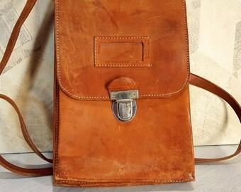Vintage officer bag, Original officer bag, Military bag, Messenger bag, Army officer bag, Soviet army bag, Cross body bag, Genuine leather