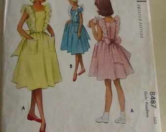 Antique McCall Pattern 7234 Girl's Pinafore Size 8